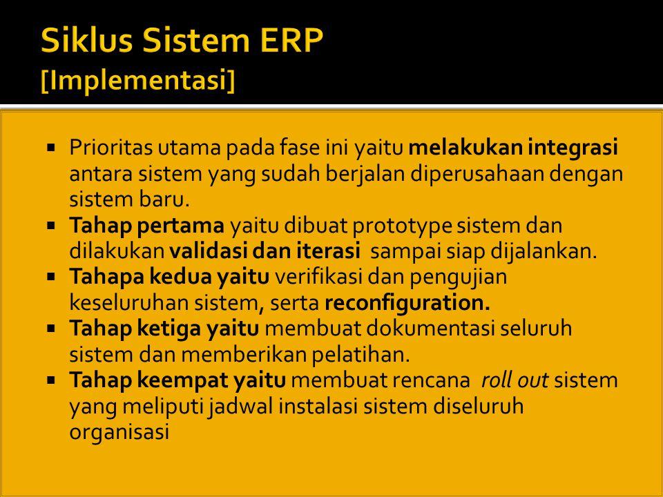 Siklus Sistem ERP [Implementasi]